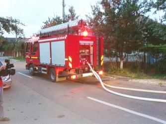 Incendiu pe strada Maxim Gorki
