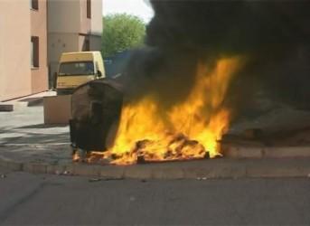 A dat foc unor tomberoane de gunoi