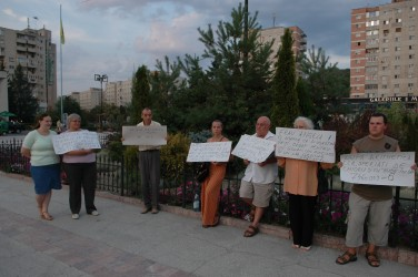 Protest spontan la Zalău