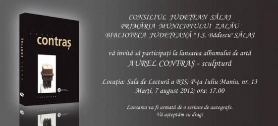 """Lucrarea """"Aurel Contraş-Sculptură"""" va fi lansată la Zalău"""
