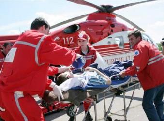 Intervenţie cu elicopter SMURD la Zalău
