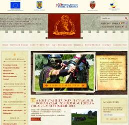 Pagină de internet pentru promovarea Festivalului Roman de la Zalău