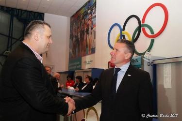 Marcel Doru Ţârle şi Monel Sabou, la centenarul Federaţiei Române de Atletism