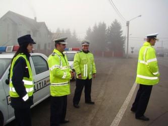 Poliţiştii sunt în stradă de Anul Nou