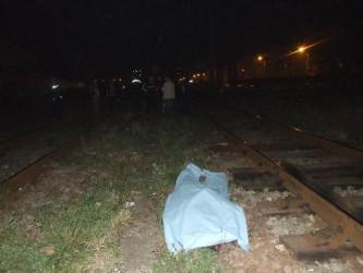 Bărbat lovit de tren, la Cehei