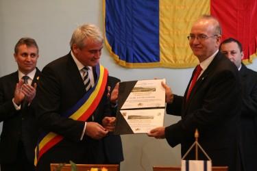 Ambasadorul Israelului a devenit cetăţean de onoare al Şimleului