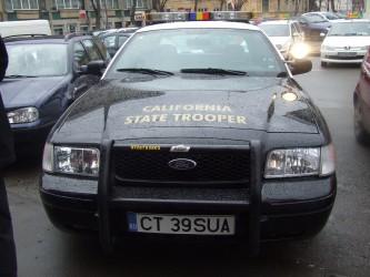 Maşina poliţiştilor texani, pe străzile Zalăului!