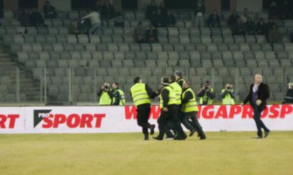 """Un sălăjean a întrerupt meciul dintre """"U"""" Cluj şi Steaua"""