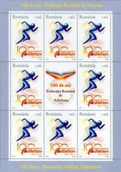 Noutăţi filatelice: 100 de ani – Federaţia Română de Atletism