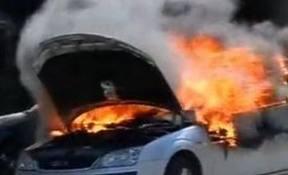 Incendiu la un autoturism, în Hereclean