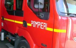 Maşină cuprinsă de flăcări în Zalău