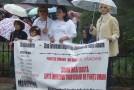 Protest împotriva traficului de persoane – patru minute de tăcere