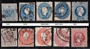 Poşta Austriacă din Transilvania şi emisiunile timbrelor poştale din perioada 1850-1867