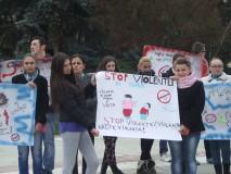 Protest tăcut împotriva violenţei domestice