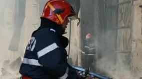 Incendiu la un operator economic din Crişeni