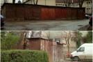 """Garajele din """"Păcii"""", puse la pământ de Primăria Zalău"""
