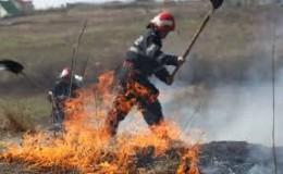 Incendiu la ieşirea din Zalău