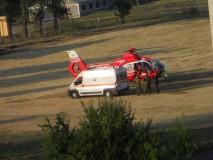 Bebeluş în stare critică, preluat de elicopterul SMURD