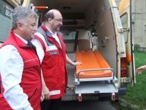 Donaţie de la nemţi: o ambulanţă pentru Crucea Roşie Sălaj