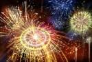 La Şimleu Silvaniei,  Foc de artificii şi şampanie în noaptea dintre ani