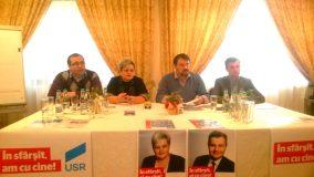 Cristian Ghinea, ministrul Fondurilor Europene în cabinetul Cioloș, în conferința de presă a USR la Zalău