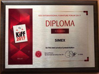Simex România, premiată la Expoziţia Internaţională de Mobilă de la Kiev