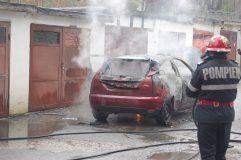 Incendiu auto în municipiu