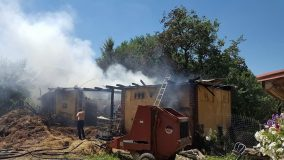 Pompierii din Cehu Silvaniei au intervenit la un incendiu de proporții în Săliște, Maramureș