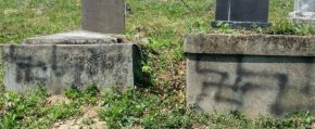 Monumente funerare profanate în Cimitirul Evreiesc din Zalău