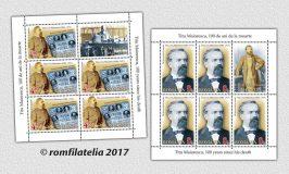 Noutăţi filatelice: Titu Maiorescu, 100 de ani de la moarte