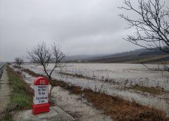 În urma ploilor căzute la sfârșitul săptămânii trecute, sute de hectare de teren arabil au fost inundate în Sălaj