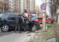 Accident deosebit de grav în centrul Zalăului