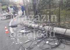 Un tânăr s-a urcat băut la volan și a făcut prăpăd pe o stradă din Zalău