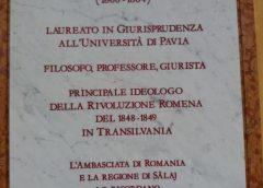 Placă comemorativă dedicată lui Simion Bărnuțiu, dezvelită la Universitatea din Pavia – Italia