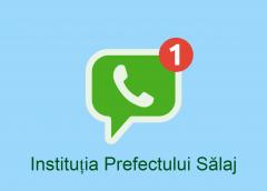 Prefectul pune la dispoziția sălăjenilor un număr de Whatsapp
